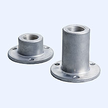 Air conditioning flange for bimetal thermometer